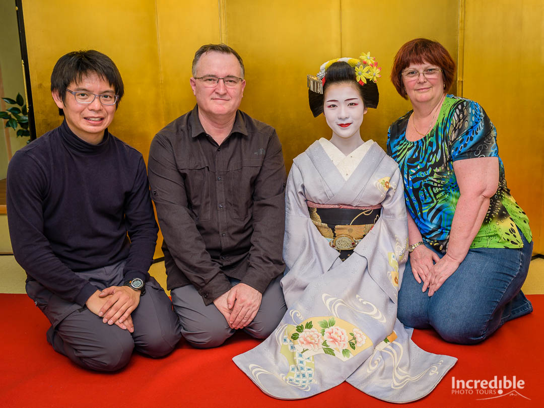 Julius, Peter, and Michele with Toshisumi (とし純)