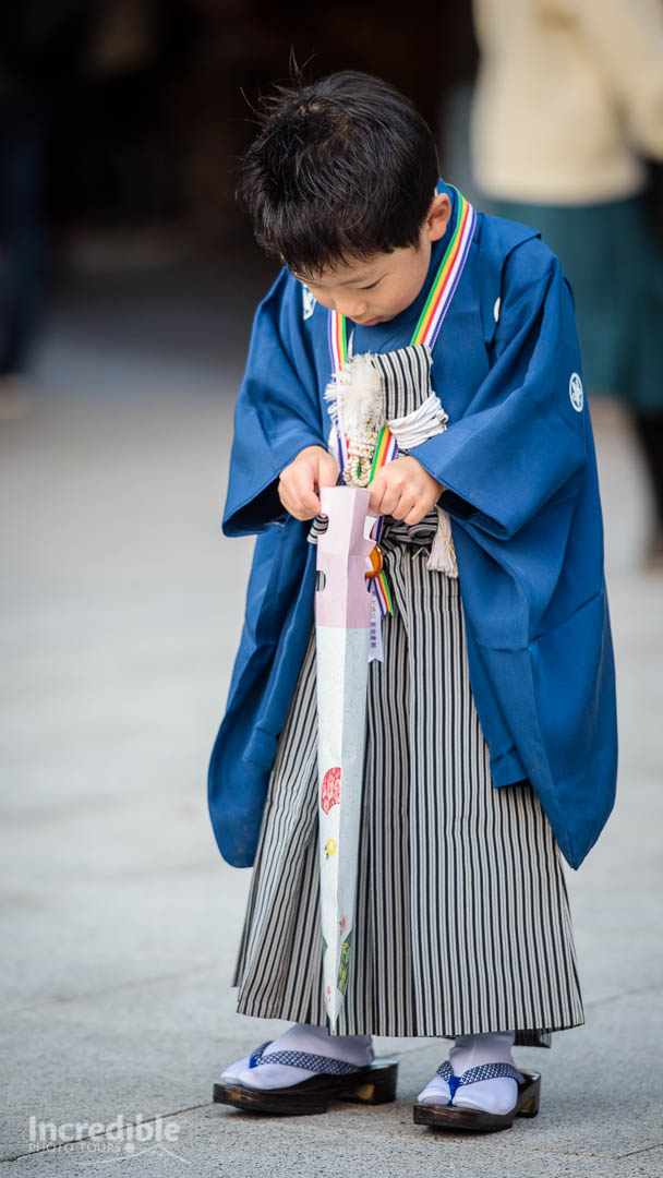 Young boy at Shichi-Go-San Festival, Meiji Shrine